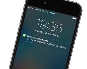 SMS-Alarmierung